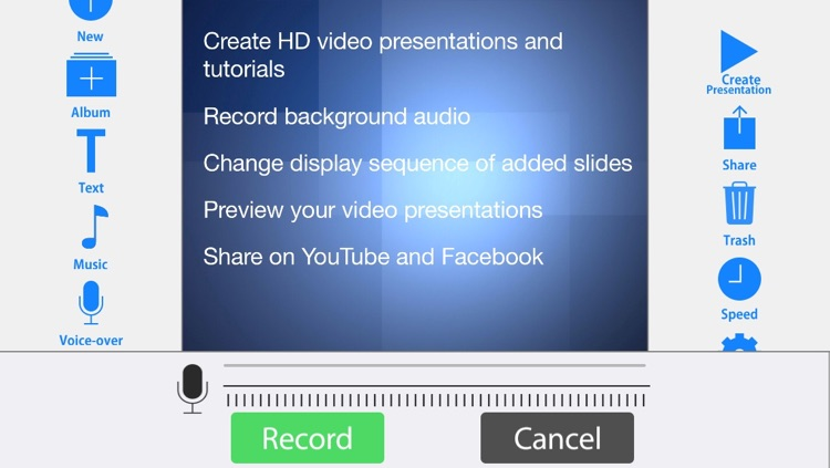WiPoint - Make HD video presentations & slideshows
