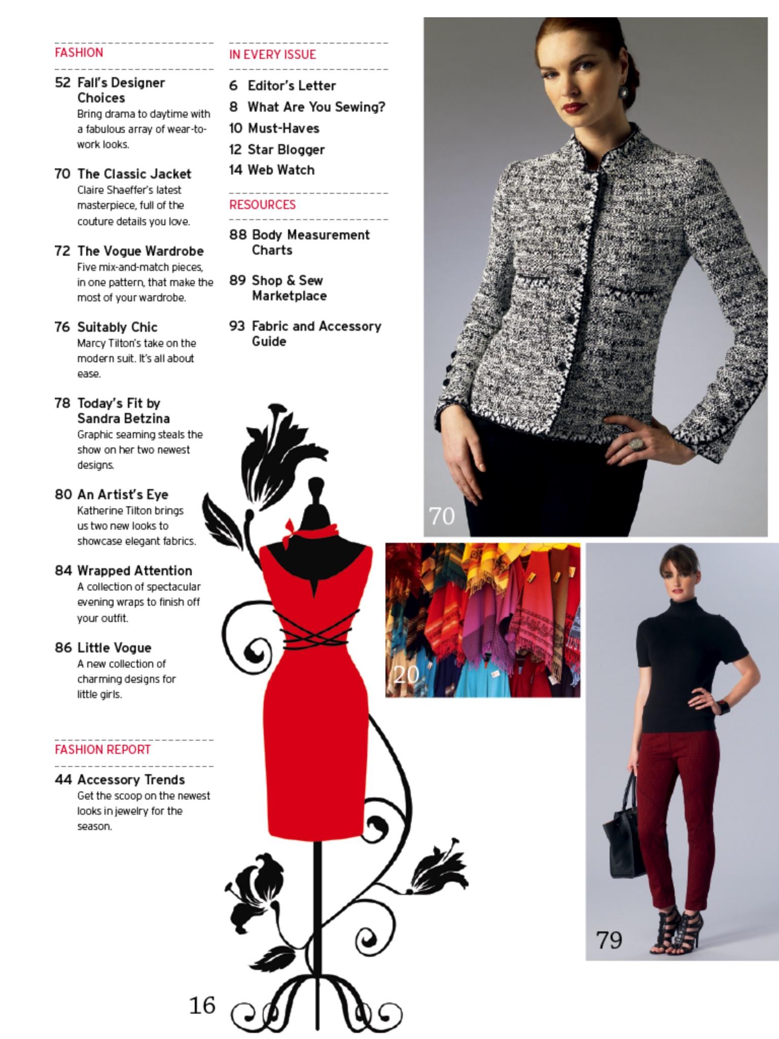 The Vogue Patterns Magazine Screenshot