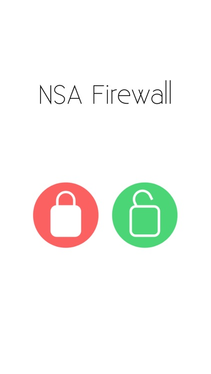 NSA Firewall - Don't be spied on!