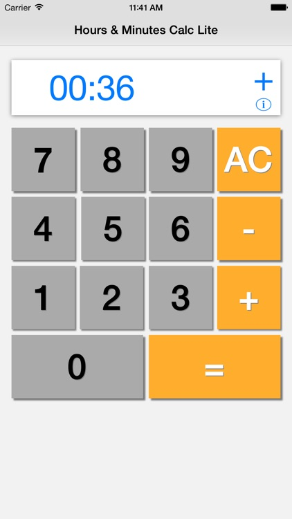 Hours & Minutes Calculator Lite screenshot-2