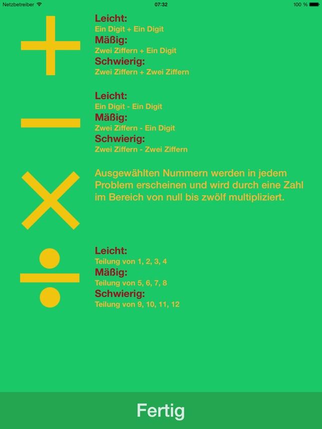 iMath | Addition, Subtraktion, Multiplikation, Division im App Store