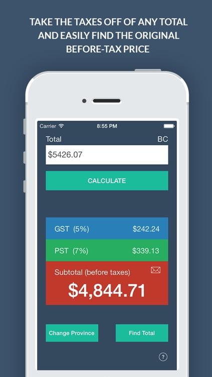 Canadian Sales Tax Calculator + screenshot-3