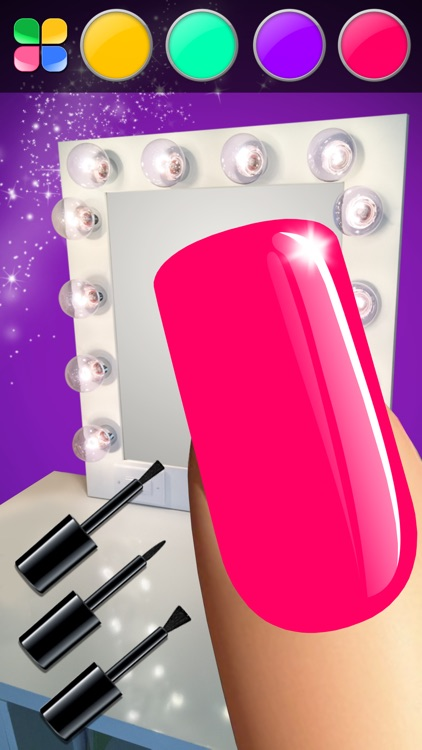 Manicure in Stylish Salon – Acrylic Nail Polish with Fancy Glow and Neon Design for Glamorous Girls screenshot-3