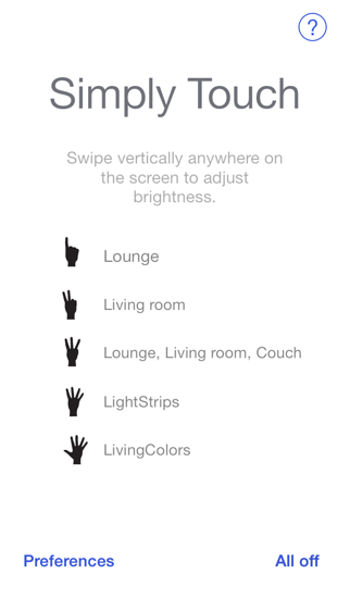 Simply Touch - control your Hue lights by simple