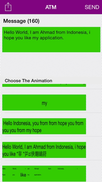 Animation Text Message