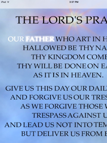 The Lords Prayer Anointed-ipad-0