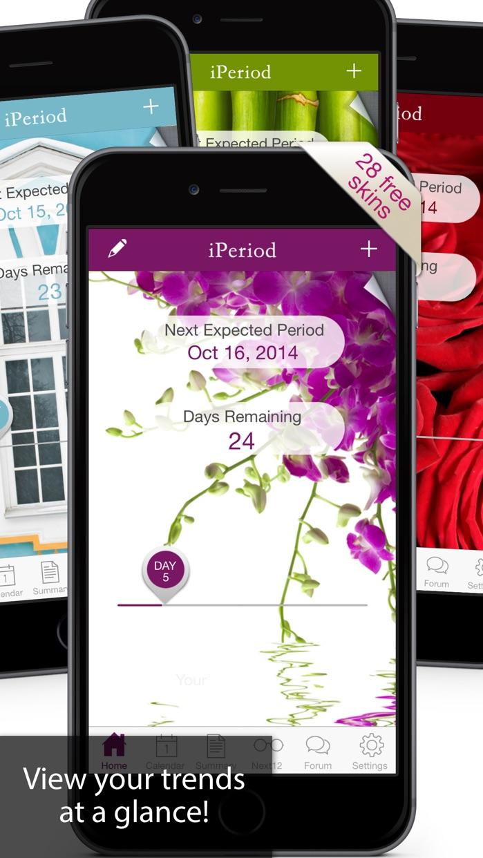 iPeriod Period Tracker Free - Menstrual Calendar Screenshot