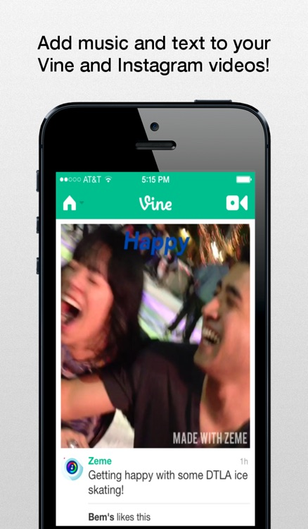 Zeme - Video Editor: Add Music to Vines and Instagram Videos