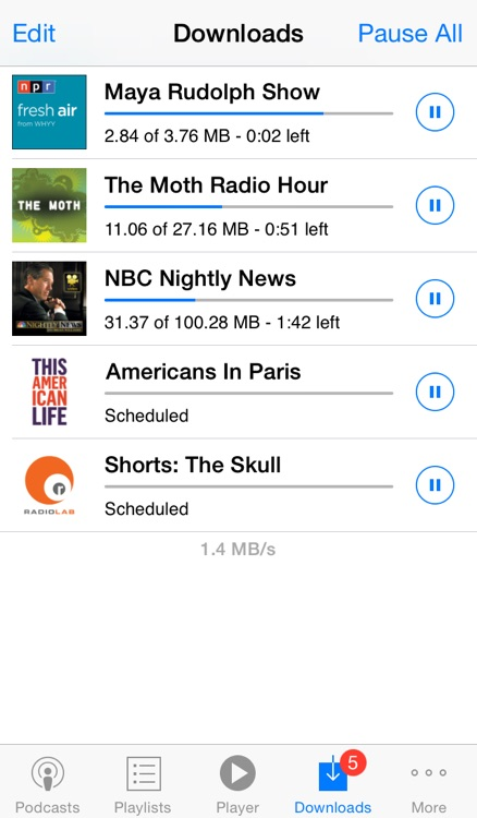 PodCruncher podcast app - Player and manager for podcasts screenshot-3
