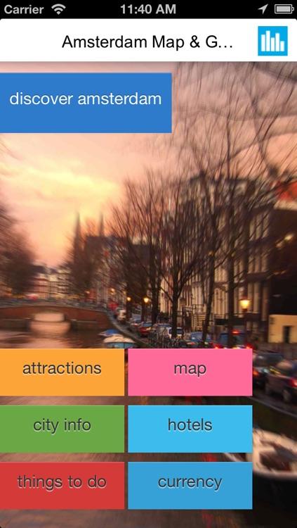 Amsterdam offline map, guide & hotels