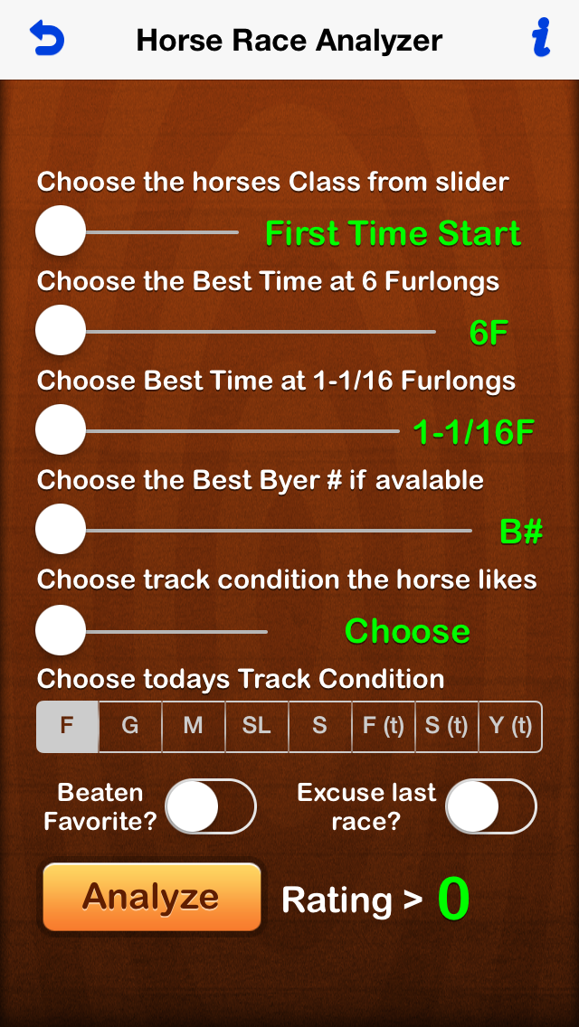 Horse Analyzer screenshot