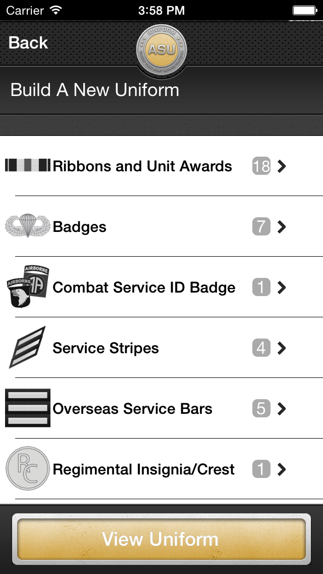iUniform ASU - Builds Your Army Service Uniform app image