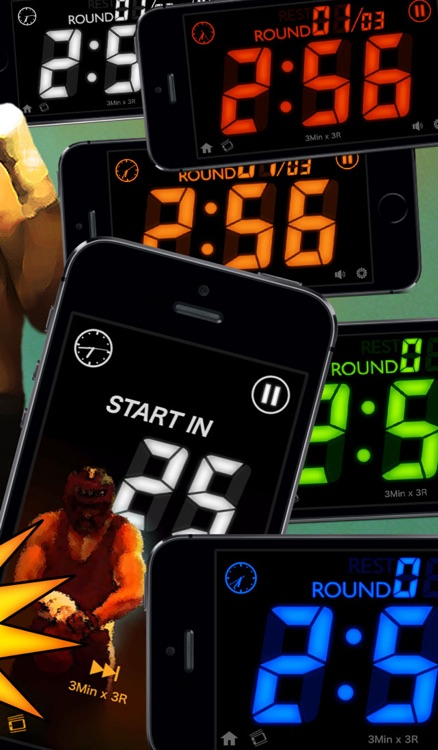 Boxing Timer G - Boxing Workout interval round timer screenshot-3