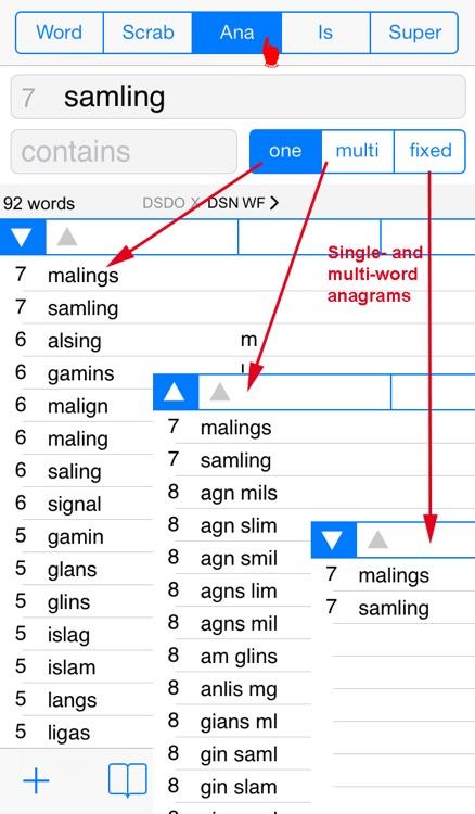 Words Finder PRO Dansk/Danish - find the best words for crossword, Wordfeud, Scrabble, cryptogram, anagram and spelling screenshot-4