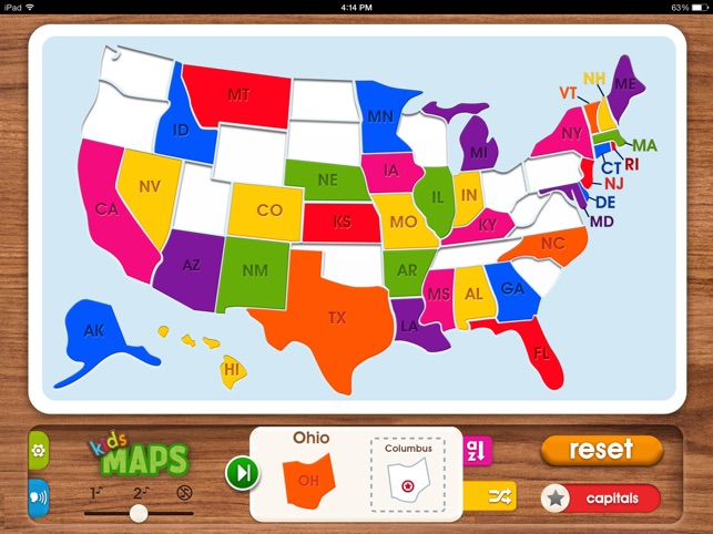 Us Map Game For Kids.Kids Maps U S Map Puzzle On The App Store