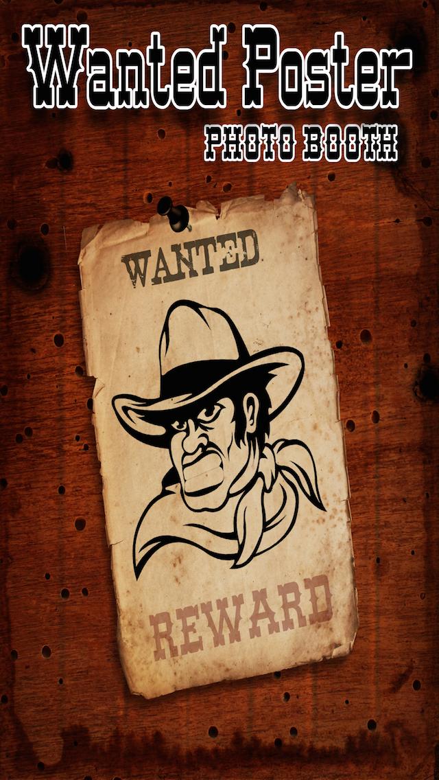 Wanted Poster Photo Booth - Take Reward Mug Shots For The