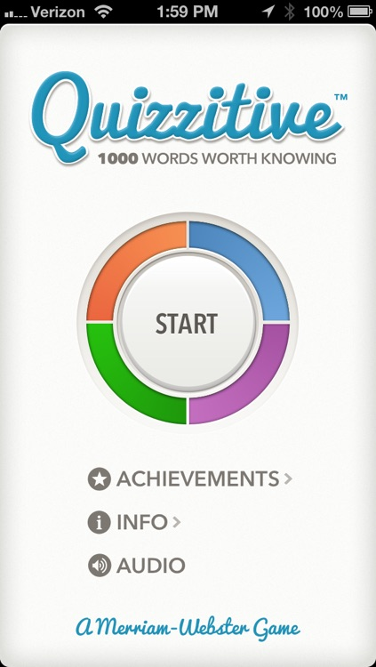 Quizzitive – A Merriam-Webster Word Game screenshot-0