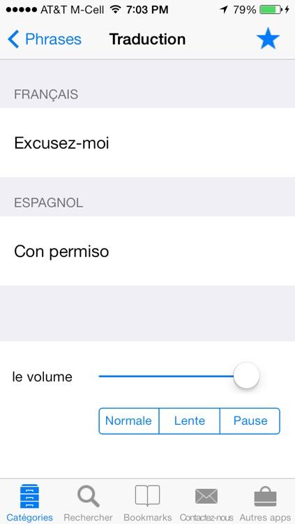 French to Spanish Talking Translator Phrasebook