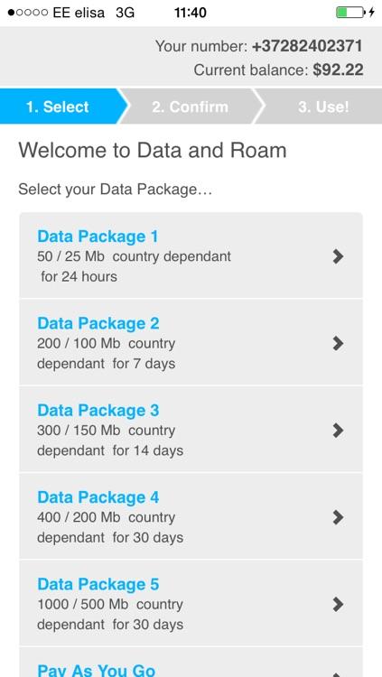 Roaming Data App