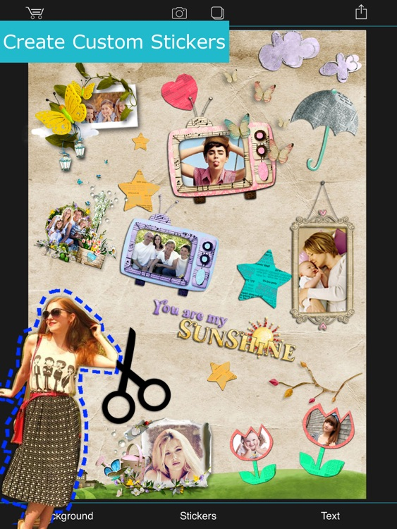 Collage Pie HD - Pic.s Cutout + Photo.s Sticker.s