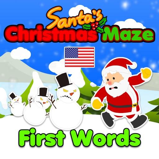 Santa's English Maze: First Words (US English)