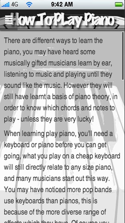 How To Play Piano: Learn How To Play Piano The Easy Way! screenshot-4