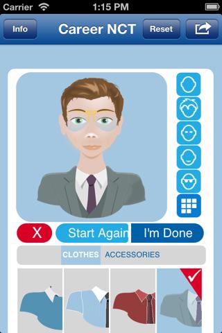 Screenshot of Career NCT