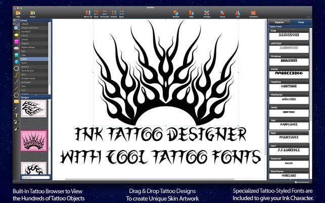 Ink Lite - Tattoo Designer on the Mac App Store