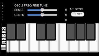 !iM: iKlavka, classic monophonic (two voice) sound synthesizer with
