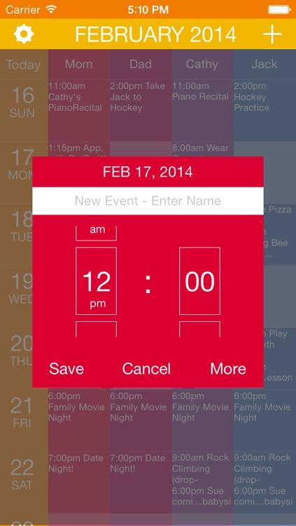 calendar all organize family schedule like a wall calendar use as