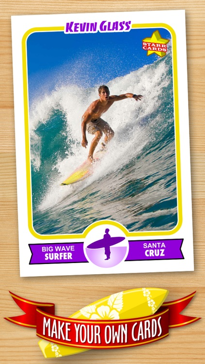 Surfing Card Maker - Make Your Own Custom Surfing Cards with Starr Cards screenshot-0