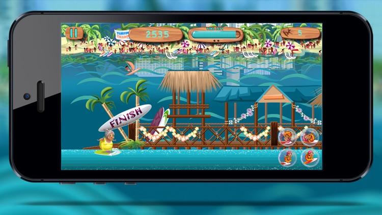 Granny Surfer - Crazy Big Wave Tropical Surfing Mania screenshot-4