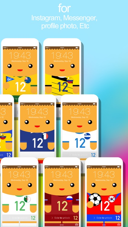 12th Player ( 2014 Soccer Jerseys : iFaceMaker ) Lite for Lock screen, Call screen, Contacts profile photo, instagram and iOS7 & iPhone screenshot-3