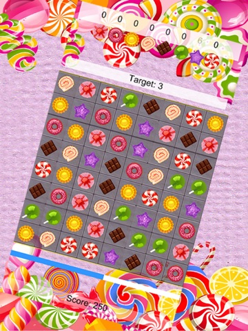 Sweets Matcher - A free mash 3 mania puzzle game-ipad-0