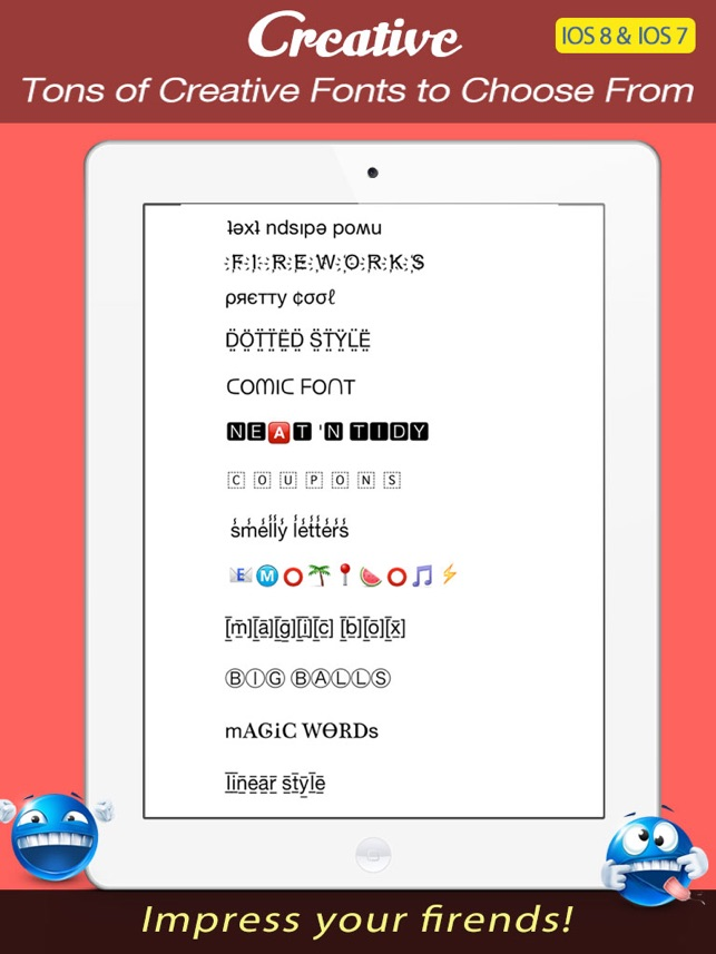 Font keyboard pro cool new text styles emoji art font for font keyboard pro cool new text styles emoji art font for imessage twitter kik facebook messenger instagram comments more on the app store altavistaventures Gallery