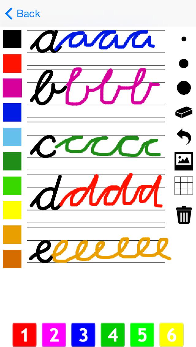 筆記体で書く:書き込みや学校のためのアルファベットの文字をご覧くださいのおすすめ画像1