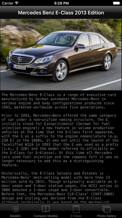 Specs for Mercedes Benz E-Class 2013 edition screenshot-3