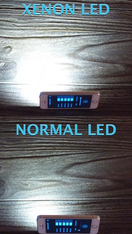 XENON LED Light - Regulate Brightness, Quick-Start, SOS-Function, Strobe-Light, Black-Screen & Lock-Screen