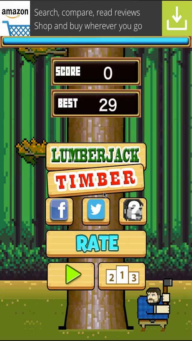 TIMBER the LumberJack Tree Chopping Man screenshot one