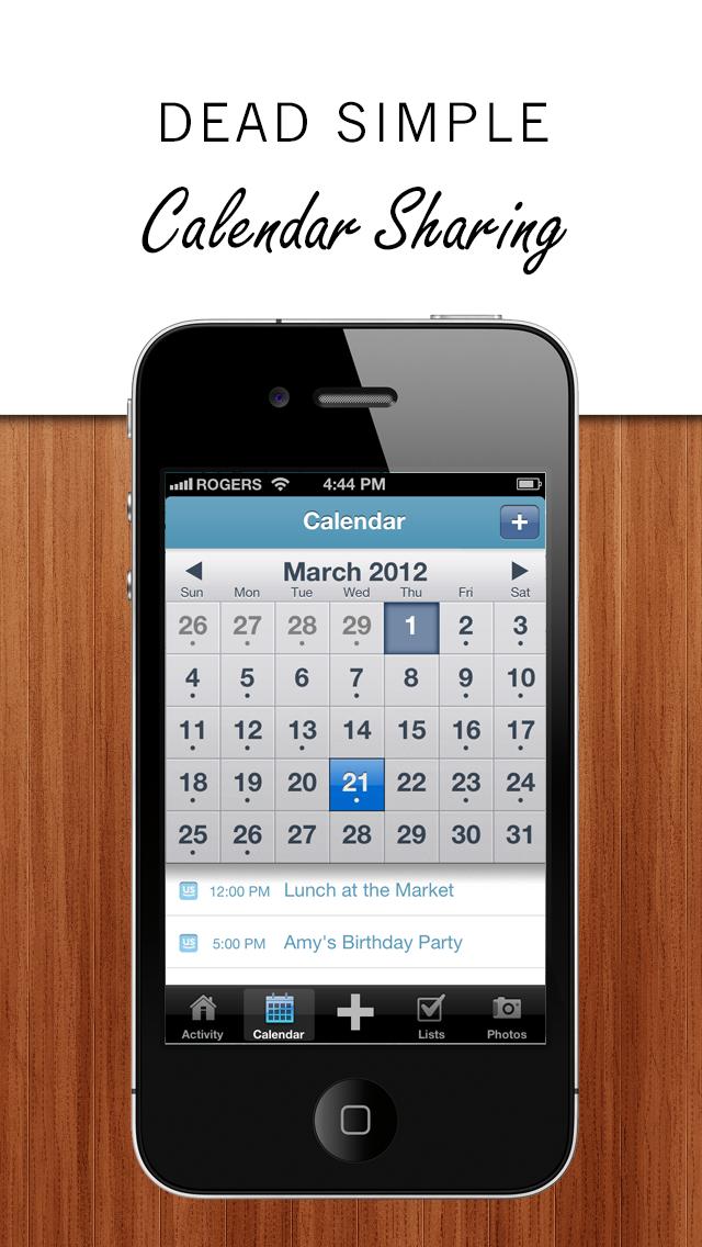 SimplyUs - Shared Calendar, ToDo Task List & Organizer for Couples screenshot
