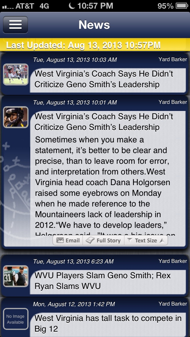 West Virginia Football Live review screenshots