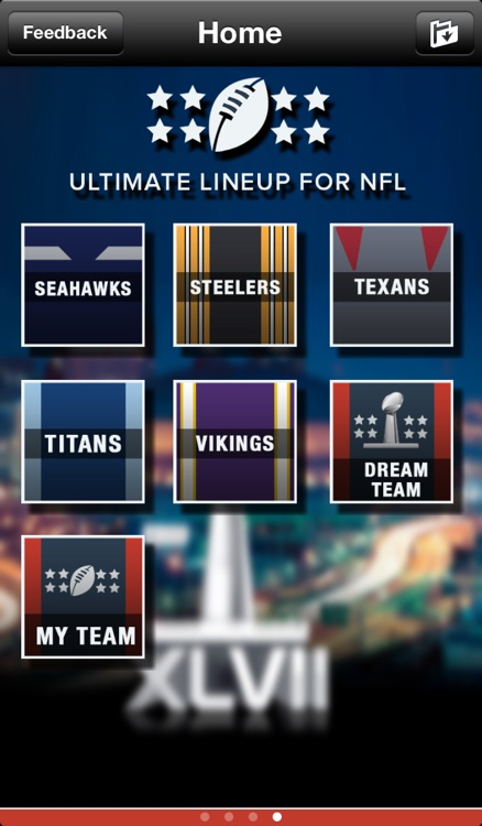 Ultimate Lineup for NFL