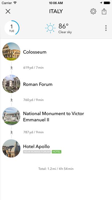 Screenshot of Trip planner Italia & Vaticano di Tripomatic, guide turistiche e mappe offline5