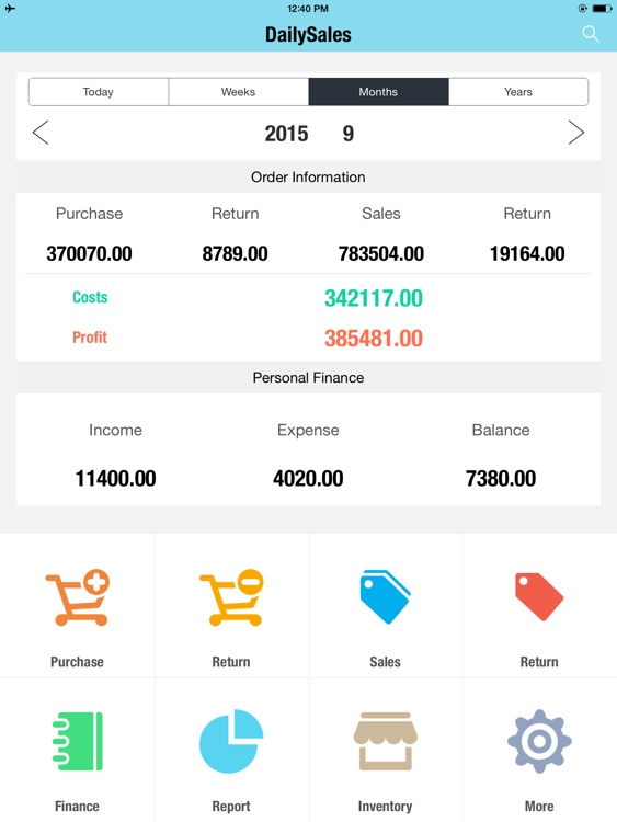Daily Sales Tracker HD - Inventory, Items, Storage