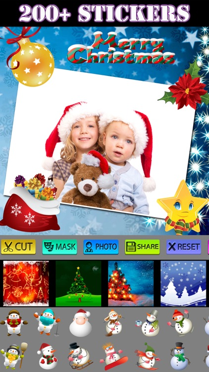 Christmas Photo Collage (HD) screenshot-3