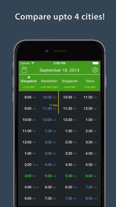 World TimeZlider - Convert time, schedule and shareScreenshot of 5