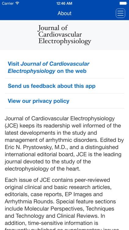 Journal of Cardiovascular Electrophysiology screenshot-3
