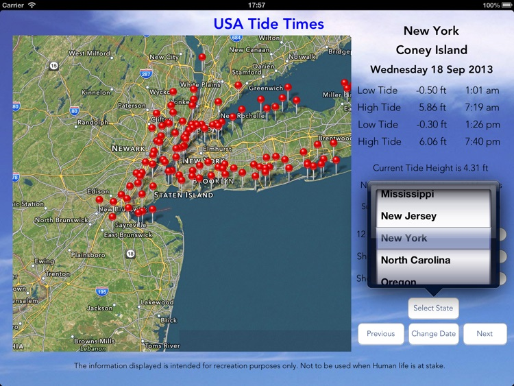 USA Tide Times Pro screenshot-0