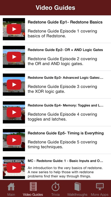 Redstone Guide for Minecraft - Featuring Video Walkthroughs, Trivia and  Instructions by Fatima Cantillano