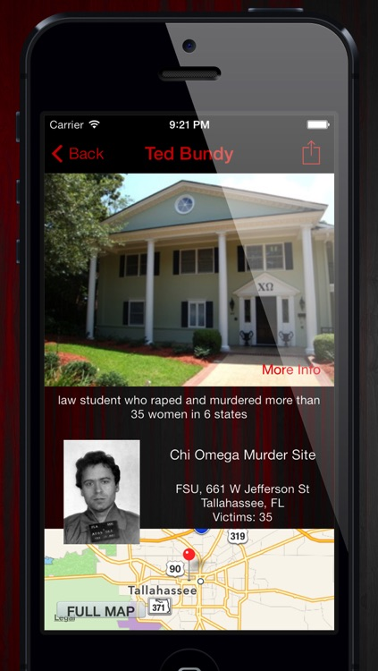 Killer GPS: Crime Scene, Murder Locations and Serial Killers screenshot-3